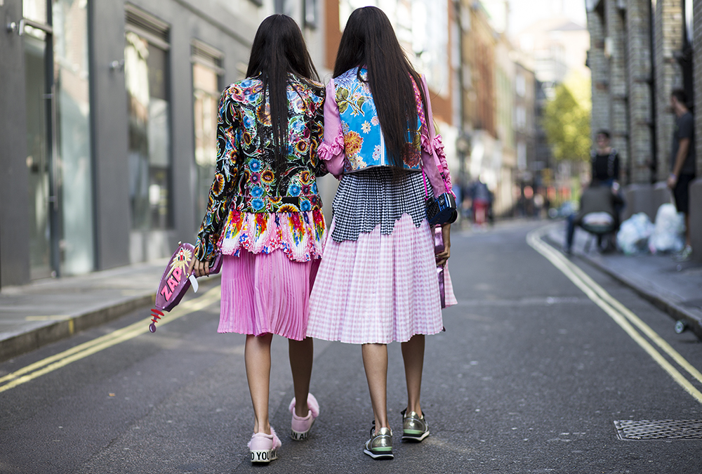 Jess and Stef – London Fashion Week
