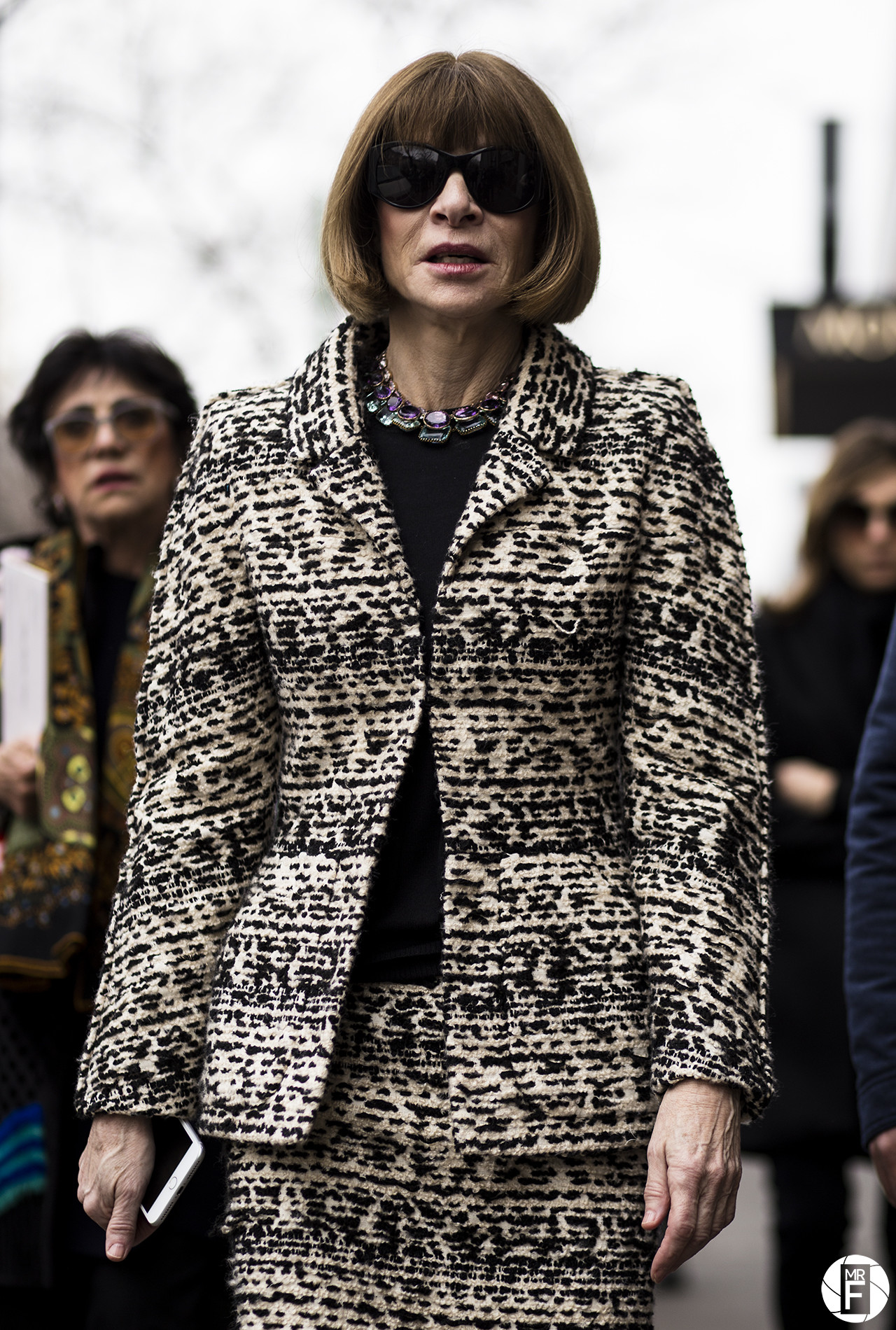 Anna Wintour before Fendi – Milan Fashion Week F/W 17