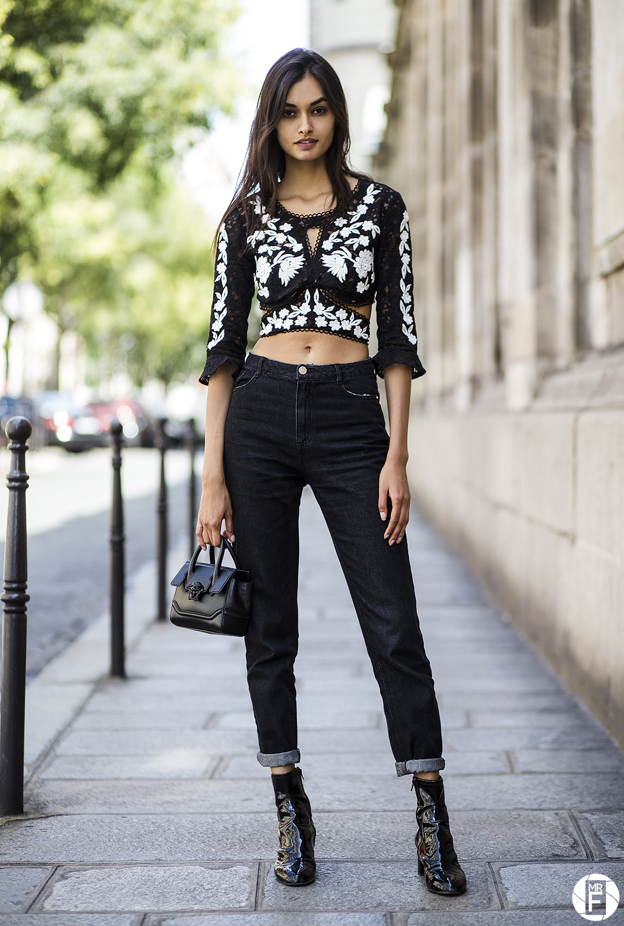 Gizele Oliveira seen in Le Marais, Paris